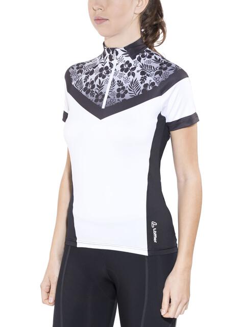 Löffler Hotbond Bike Trikot HZ Damen weiß/schwarz